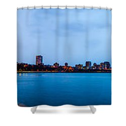 Shower Curtain featuring the photograph Milwaukee Skyline - Version 1 by Steven Santamour