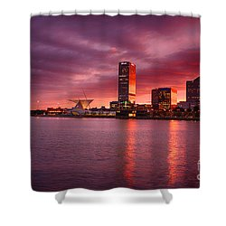 Milwaukee Sunset Shower Curtain