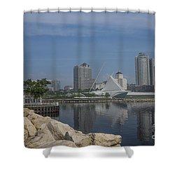 Milwaukee Wisconsin Shower Curtain