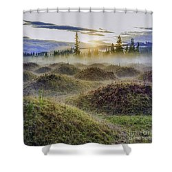 Mima Mounds Mist Shower Curtain