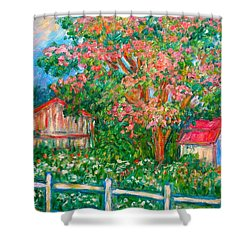 Mimosa View Shower Curtain by Kendall Kessler