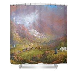 Minas Tirith  War Approaches. Shower Curtain by Joe  Gilronan