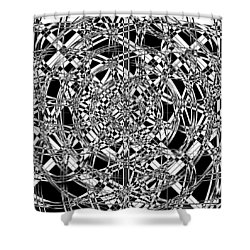 B W Sq 7 Shower Curtain