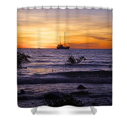 Mindil Beach Sunset Shower Curtain by Venetia Featherstone-Witty