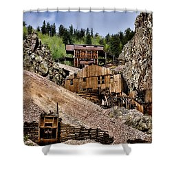 Mine On The Mountain Shower Curtain