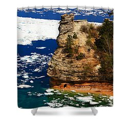 Miner's Castle In Spring Shower Curtain