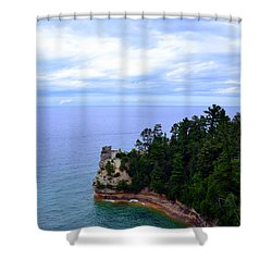 Miner's Castle Shower Curtain