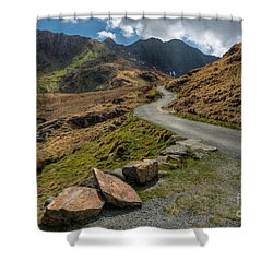 Miners Trial Shower Curtain by Adrian Evans