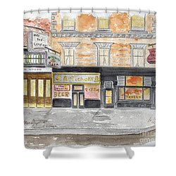 Minetta Tavern  Greenwich Village Shower Curtain