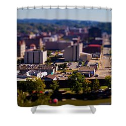 Mini Downtown Parkersburg Shower Curtain by Jonny D