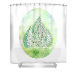 Mini Forest Illustration Shower Curtain