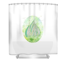 Mini Forest With Birds In Flight - Illustration Shower Curtain