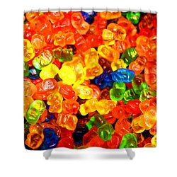 Mini Gummy Bears Shower Curtain