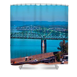 Miniature Bridge Shower Curtain by Jonny D