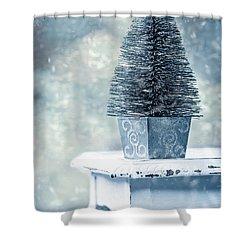 Miniature Christmas Tree Shower Curtain by Amanda Elwell