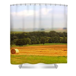 Miniature Countryside Shower Curtain by Vicki Spindler