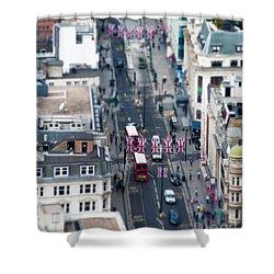 Miniature Oxford Street Shower Curtain by Matt Malloy
