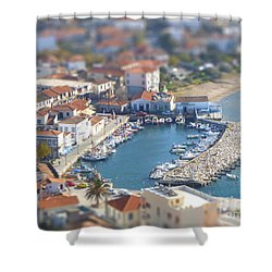 Shower Curtain featuring the photograph Miniature Port by Vicki Spindler