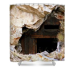 Mining Backbone Shower Curtain