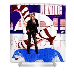 Mink Deville - Le Chat Bleu Shower Curtain
