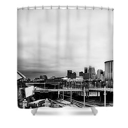 Minneapolis From The University Of Minnesota Shower Curtain by Tom Gort