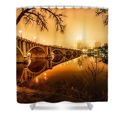 Minneapolis In The Fog Shower Curtain by Mark Goodman