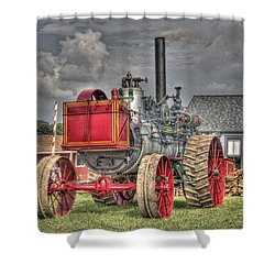 Minneapolis Return Flue  Shower Curtain by Shelly Gunderson