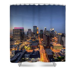 Minneapolis Skyline At Night Shower Curtain