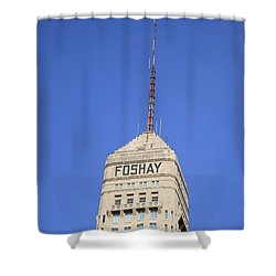 Minneapolis Tower Shower Curtain by Frank Romeo