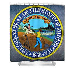 Minnesota State Seal Shower Curtain by Movie Poster Prints