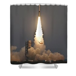 Minotaur I Launch Shower Curtain