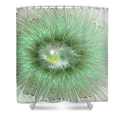 Shower Curtain featuring the digital art Mint Green by Svetlana Nikolova