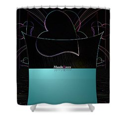 Mint Line Shower Curtain