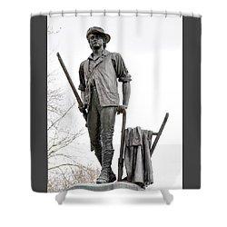 Minute Man Statue Shower Curtain