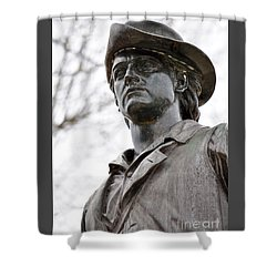 Minute Man Statue 3 Shower Curtain