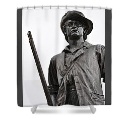 Minute Man Statue Concord Massachusetts Shower Curtain
