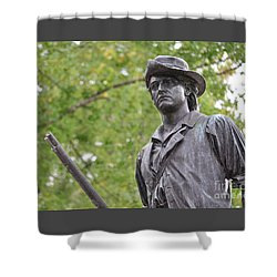 Minute Man Statue In Spring Shower Curtain