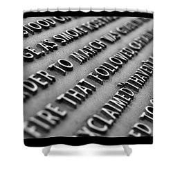 Minute Man Statue Plaque Shower Curtain