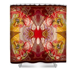 Miracles Can Happen Abstract Butterfly Artwork Shower Curtain by Omaste Witkowski