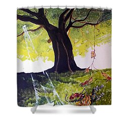 Mirage Of Lives  Shower Curtain by Lazaro Hurtado