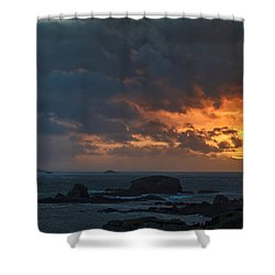Shower Curtain featuring the photograph Mirandas Islands Galicia Spain by Pablo Avanzini