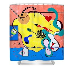 Miro Miro On The Wall Shower Curtain by Thomas Gronowski