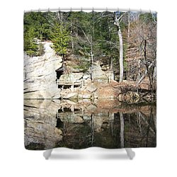 Shower Curtain featuring the photograph Sugar Creek Mirror by Pamela Clements