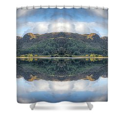 Mirror Lake Shower Curtain by Adrian Evans
