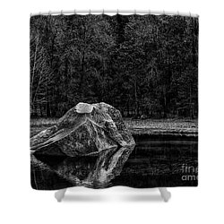 Mirror Lake Boulder Shower Curtain