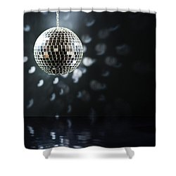 Mirrorball Shower Curtain by Ulrich Schade
