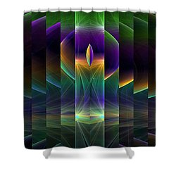 Mirrored Shower Curtain by GJ Blackman