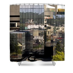Mirroring  Shower Curtain