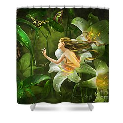 Mirrors Of Twilight Shower Curtain by Drazenka Kimpel