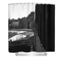 Shower Curtain featuring the photograph Mischief by Jeremy Rhoades